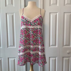 NWT Abercrombie & Fitch pink floral dress